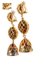 Fun and Fabulous CHANEL Drop Earrings with Poured Glass Balls thumbnail 2