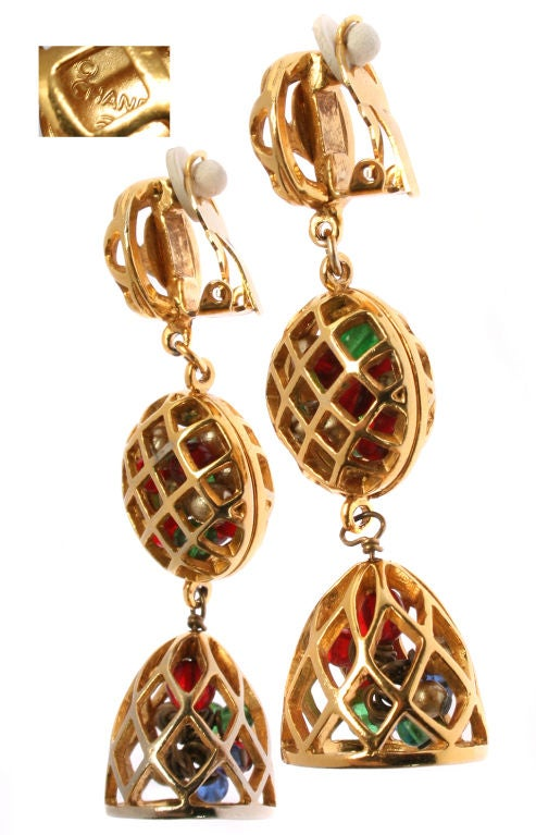 Fun and Fabulous CHANEL Drop Earrings with Poured Glass Balls image 2
