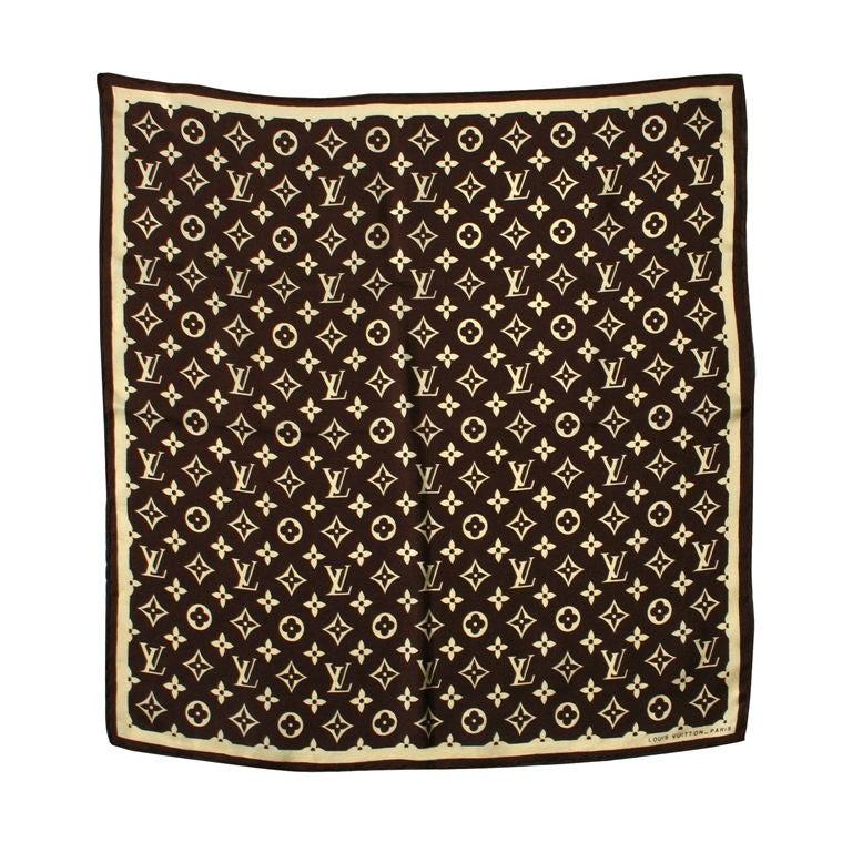 fcae02d4 Vintage Louis Vuitton Logo Silk Scarf | Stanford Center for ...
