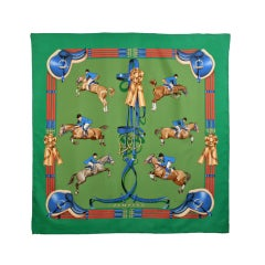 "Hermes Horse ""Jumping""  Scarf"