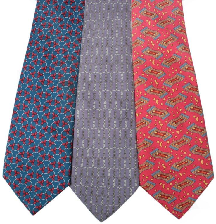 vintage hermes silk ties at 1stdibs