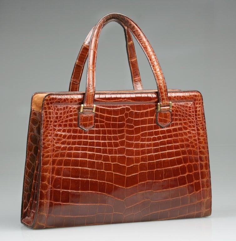 Vintage HERMES Crocodile Handbag image 2