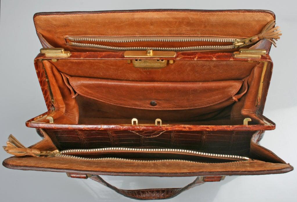 Vintage HERMES Crocodile Handbag image 3