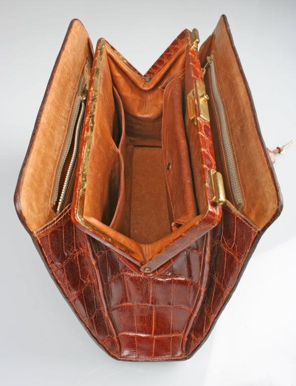 Vintage HERMES Crocodile Handbag image 4