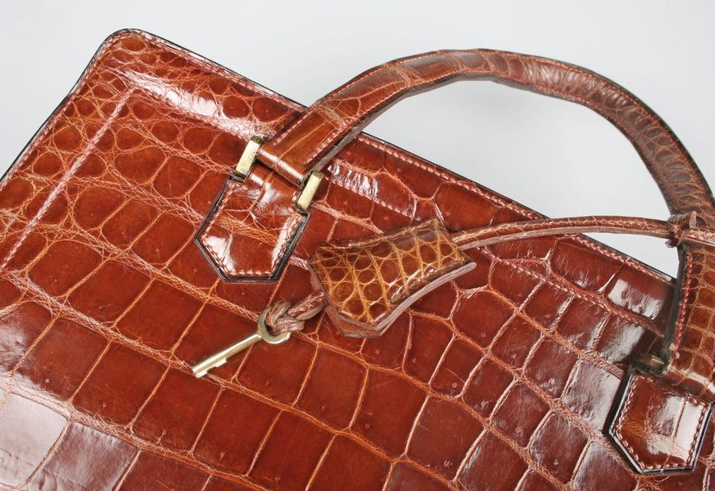 Vintage HERMES Crocodile Handbag image 5