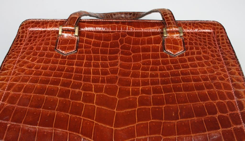 Vintage HERMES Crocodile Handbag image 6