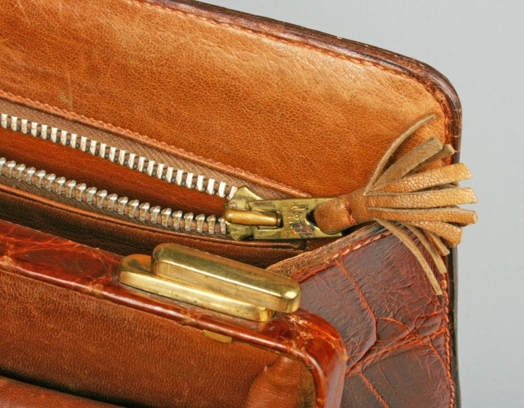 Vintage HERMES Crocodile Handbag image 7