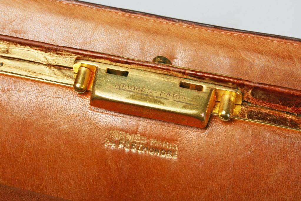 Vintage HERMES Crocodile Handbag image 8