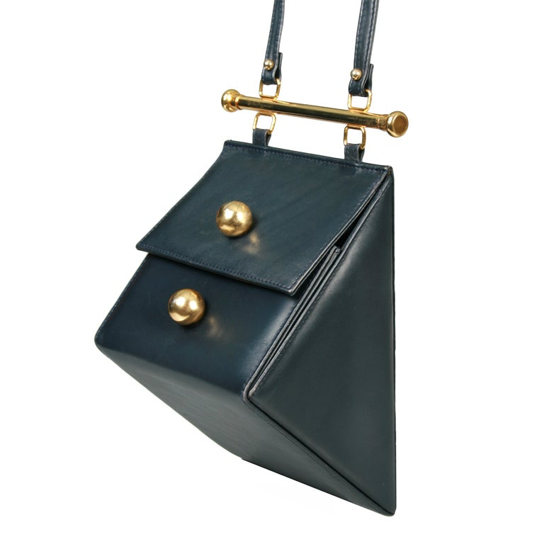 Architectural Triangle Shoulder Bag At 1stdibs