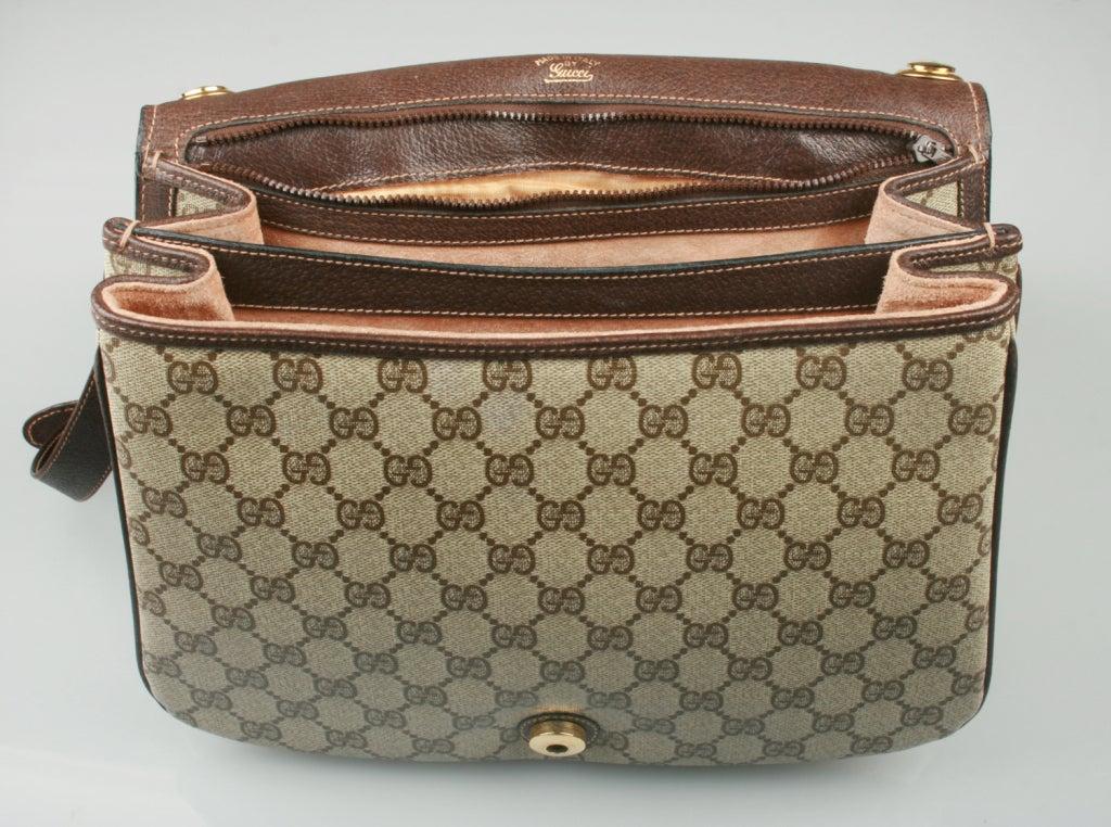 226d89bd45356 Vintage 1970  39 S Gucci Logo Shoulder Bag at 1stdibs