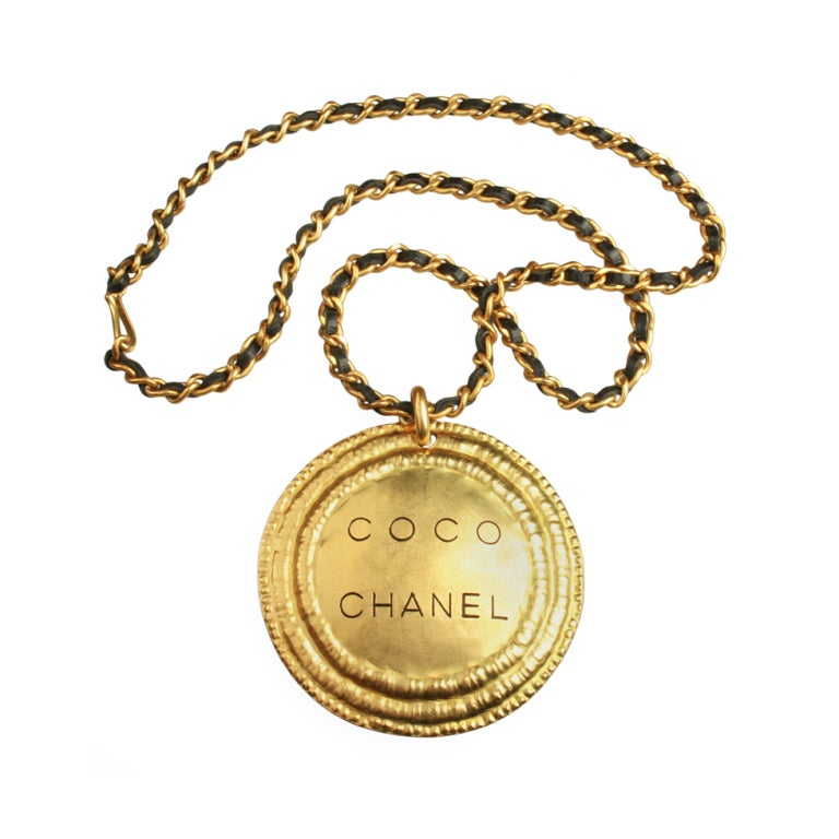 Coco Chanel Medallion Necklace At 1stdibs