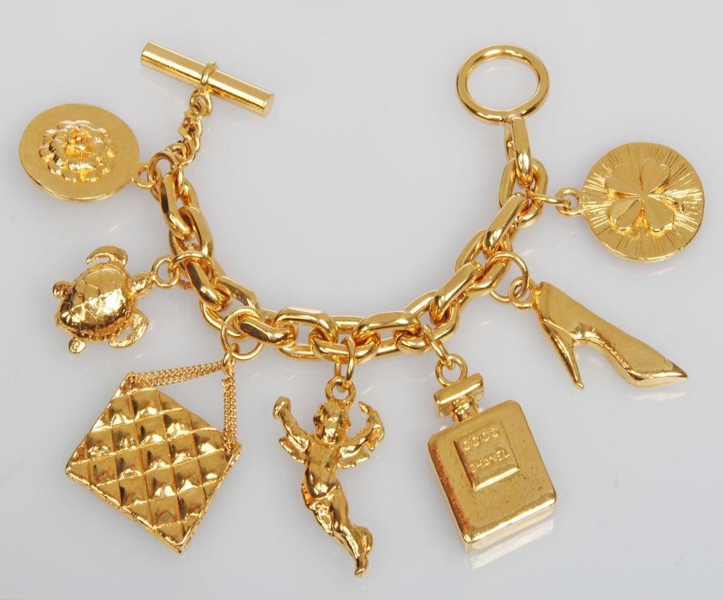 iconic large chanel charm bracelet at 1stdibs