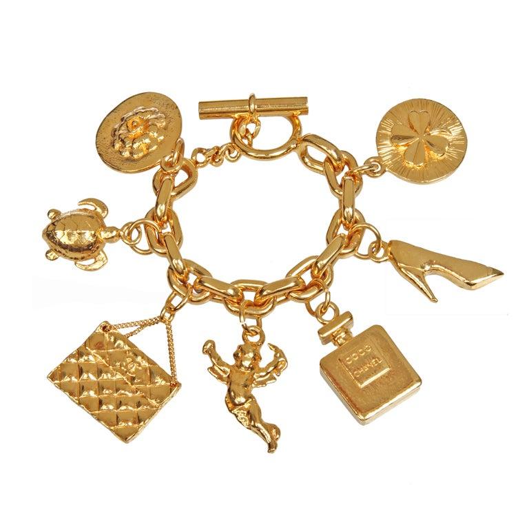 iconic large chanel charm bracelet for sale at 1stdibs