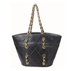 CHANEL Quilted Small Bucket Handbag