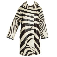 1960's Optical and Mod Zebra Print Coat