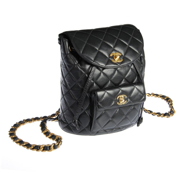 Chanel Quilted Leather Lambskin Backpack At 1stdibs
