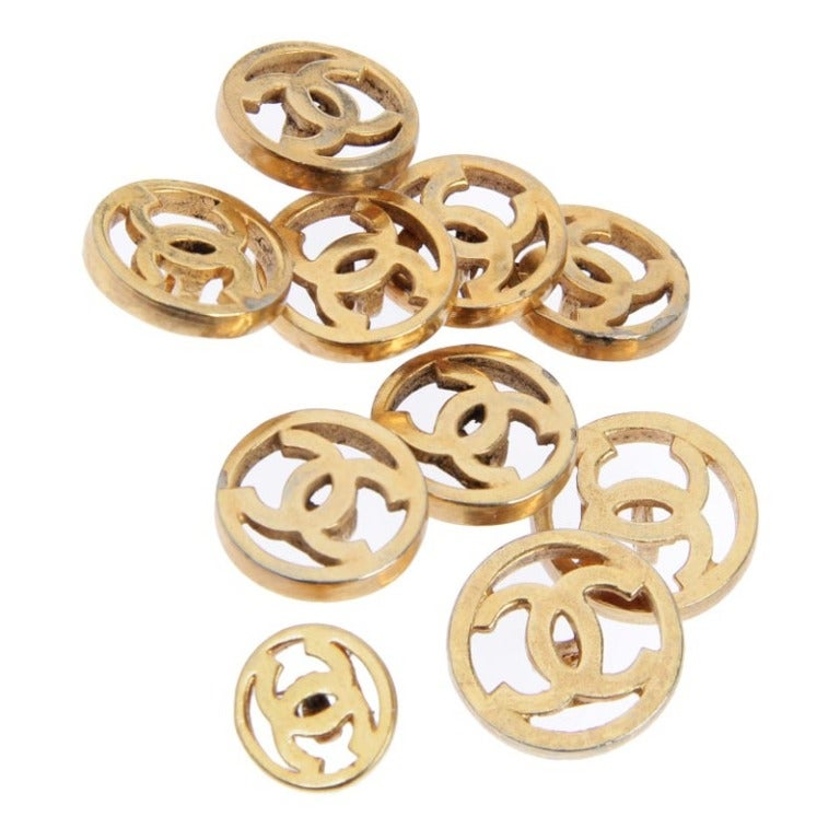 Set of CHANEL Logo Buttons image 2
