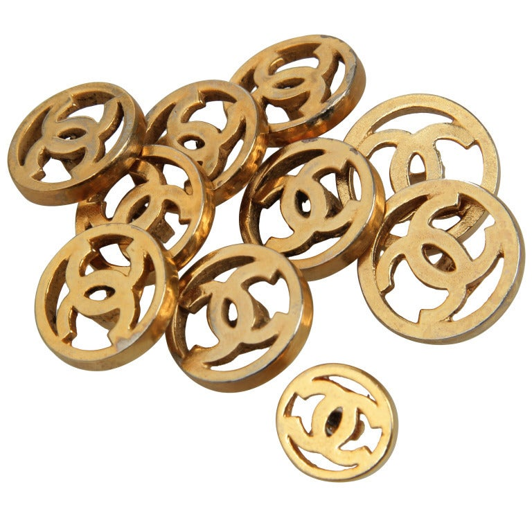 Set of CHANEL Logo Buttons