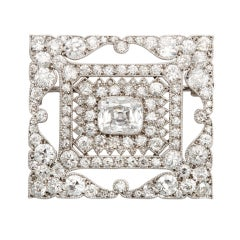 1920s Cartier, Paris, Diamond Brooch