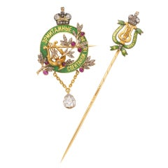 FABERGÉ Imperial Presentation Stickpin and Brooch