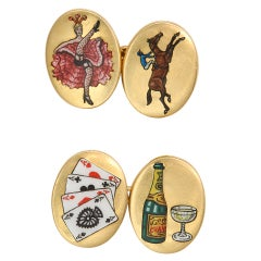Antique Four Vices Cufflinks