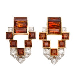 Pair of Cartier Citrine Dress Clips