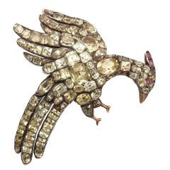 Antique Chrysolite Eagle Brooch