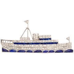 1930s Ship Brooch