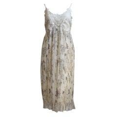 unworn ALEXANDER MCQUEEN silk dress with lace bodice