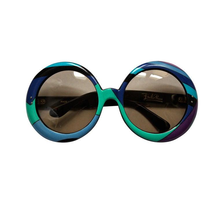 rare 1960's EMILIO PUCCI oversized round sunglasses
