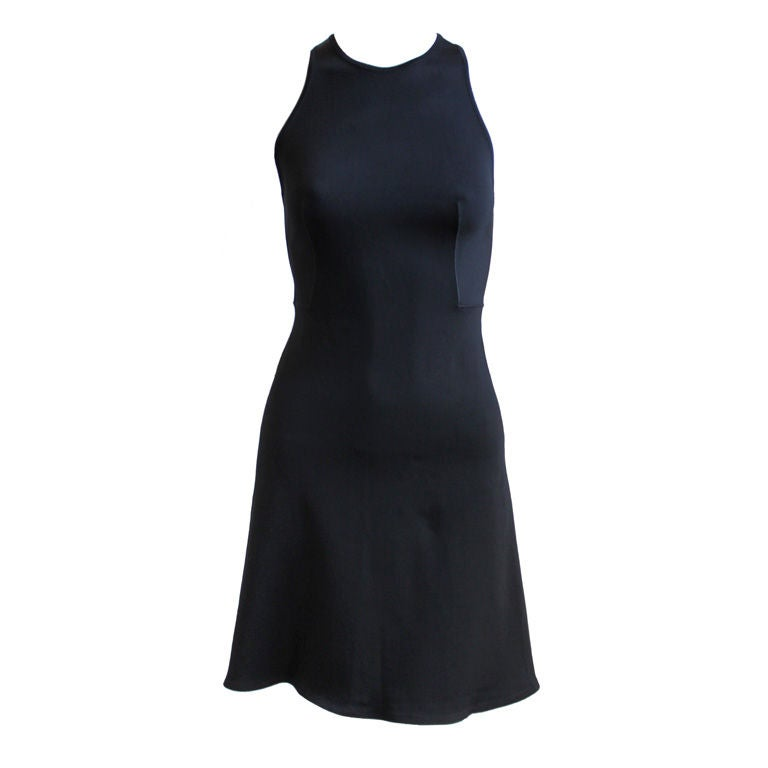 Azzedine Alaia black minidress with racer back