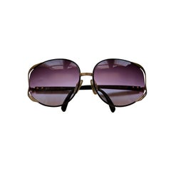 rare CHRISTIAN DIOR sunglasses with purple gradient lenses