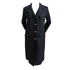 MOSCHINO Cheap and Chic black wool military coat