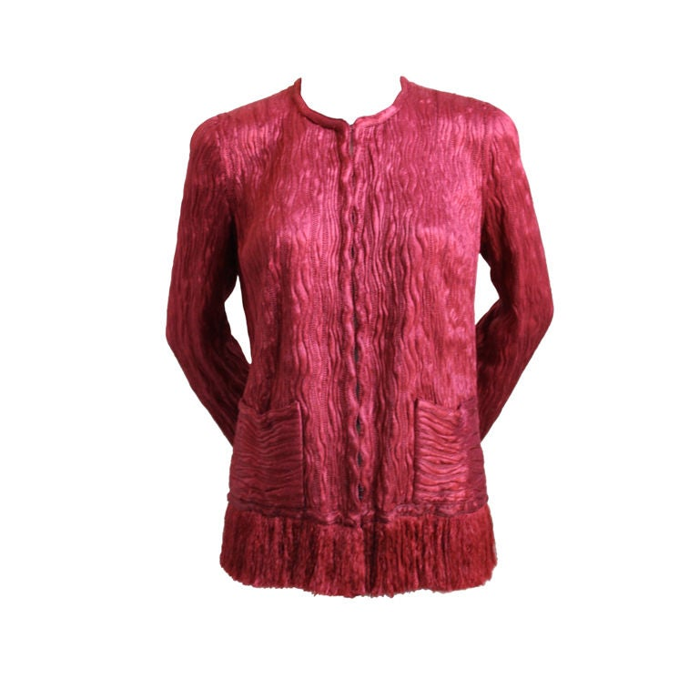 1970 39 s chanel haute couture silk and tulle jacket at 1stdibs for Haute couture jacket