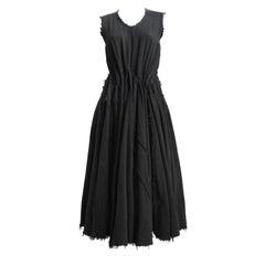 JUNYA WATANABE black Victorian 'tattered' pleated dress