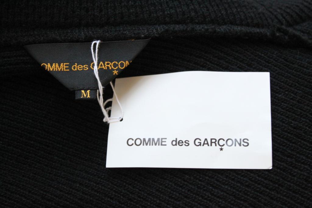 Unworn Comme Des Garcons Asymmetrical Black Wrap Sweater