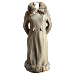 **SALE** 1970's wool coat with with fur trim WAS $450 NOW $150