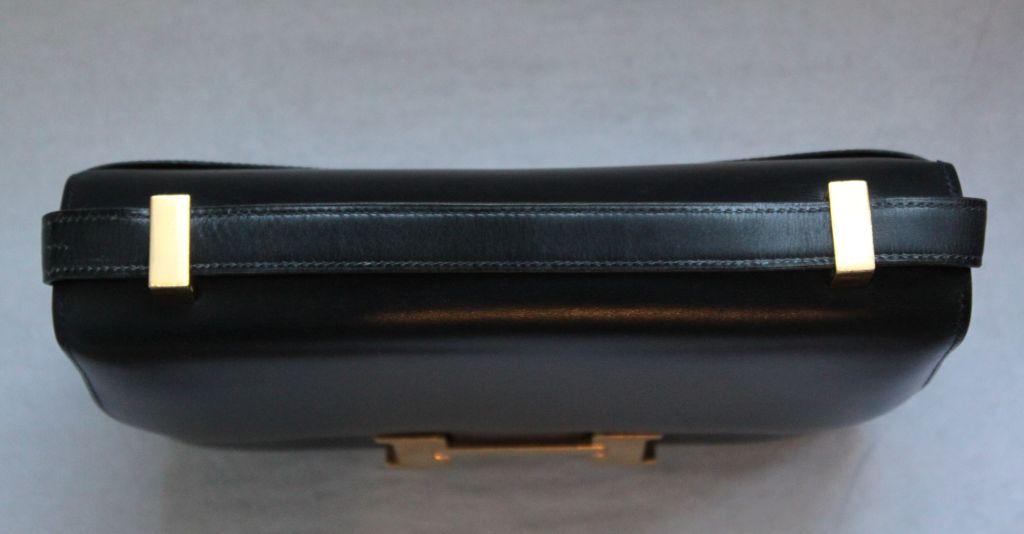 HERMES \u0026#39;Constance\u0026#39; 23 cm navy box leather bag - gold hardware at ...