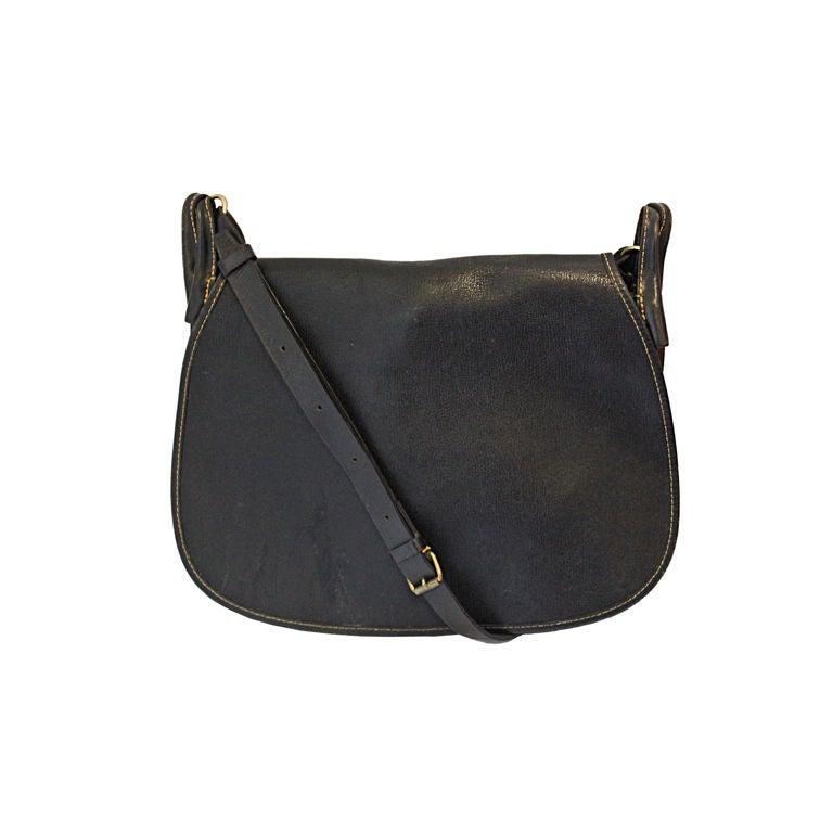1980's COMME DES GARCONS black saddle bag For Sale