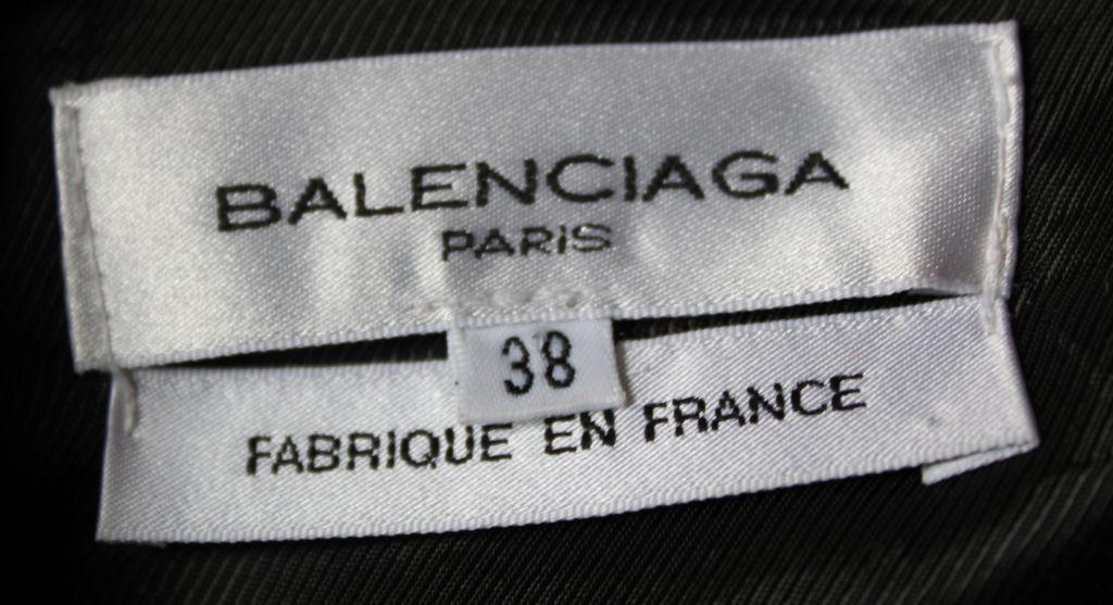 BALENCIAGA 2002 black coat with goat leather sleeves 3