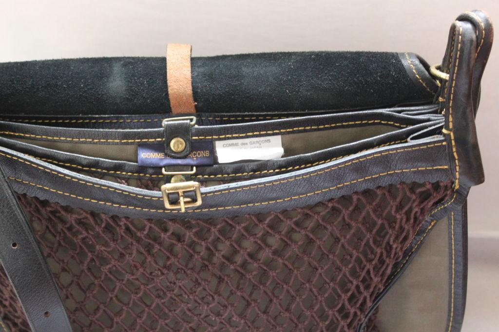 Black 1980's COMME DES GARCONS black saddle bag For Sale