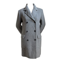 CERRUTI gray streamlined wool coat