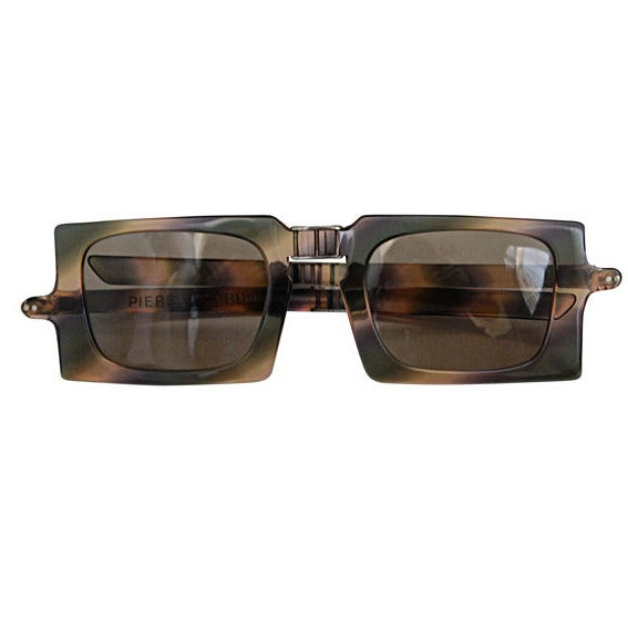 folding sunglasses  very rare 1960\u0027s PIERRE CARDIN folding sunglasses with case at 1stdibs