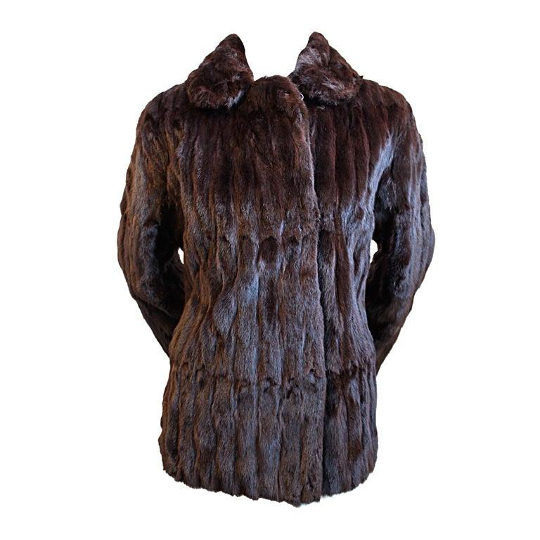 1980's THIERRY MUGLER lapin fur coat