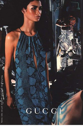 Tom Ford for Gucci spring 2000 runway beaded phthon dress 6
