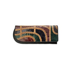CARLOS FALCHI snakeskin patchwork clutch