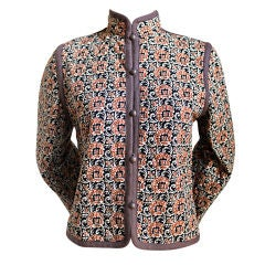 YVES SAINT LAURENT quilted floral peasant jacket 1976