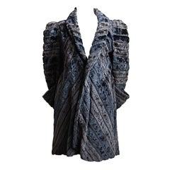 BIBA deco inspired faux fur coat
