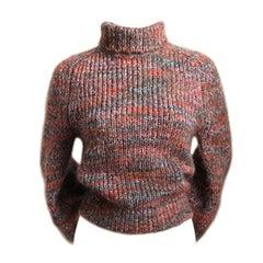 unworn DRIES VAN NOTEN mohair sweater with bishop sleeves