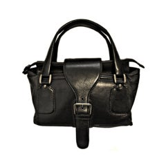 **SALE** MARTIN MARGIELA black leather satchel bag WAS $450 NOW $225